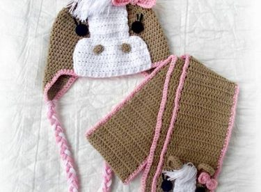 Knitted baby and child hat pattern-6