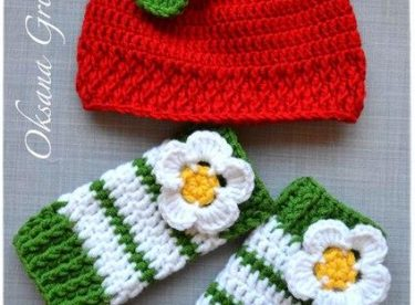 Knitted baby and child hat pattern-4