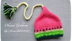 Knitted baby and child hat pattern-1
