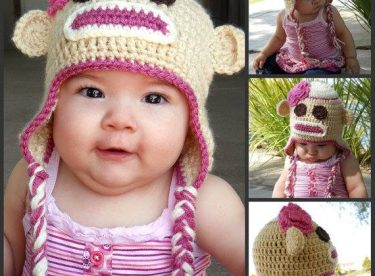 Knitted baby and child hat pattern-2