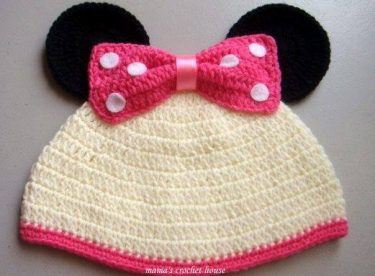 Knitted baby and child hat pattern-3