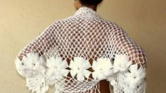 Knitted ladies shawl pattern
