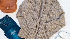 How to Crochet a Modern Draped Cardigan – Easy Free Crochet Sweater Pattern