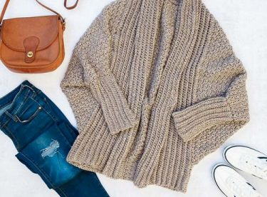 How To Crochet A Modern Draped Cardigan Easy Free Crochet Sweater