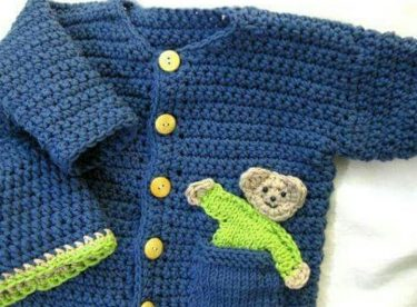 Knitted baby dress, vest, cardigan, sweater, overalls patterns -3