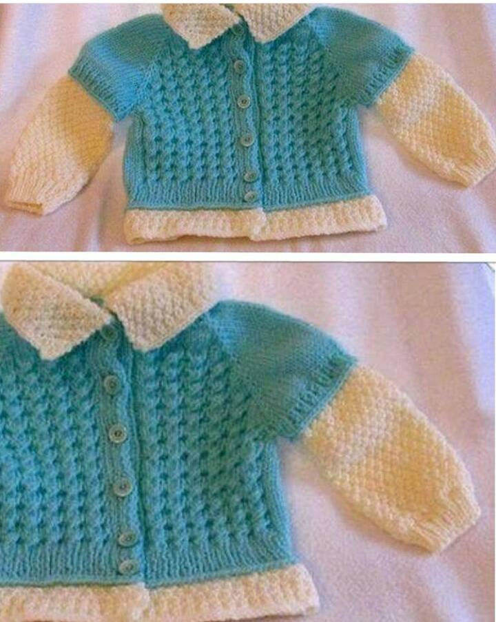 Knitted baby dress, vest, cardigan, sweater, overalls ...