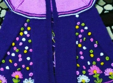 Knitted baby dress, vest, cardigan, sweater, overalls patterns -4