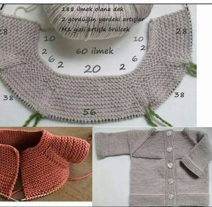 Knitted Baby Dress Vest Cardigan Sweater Overalls Patterns 528