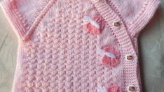 Knitted baby dress, vest, cardigan, sweater, overalls patterns -6
