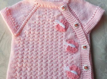 5c4c16919 Knitted baby dress