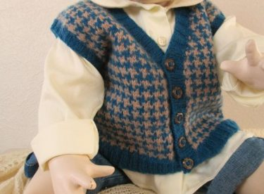 Knitted baby sweater, vest patterns