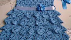 Dress is an elegance in crochet yarn patterns with shema