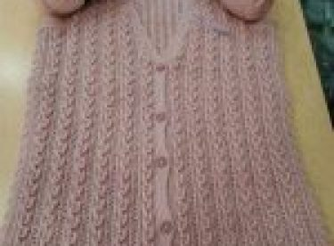 Knitted lady's vest, cardigan, sweater patterns