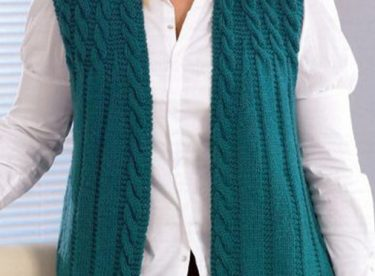Women vests knitting free pattern