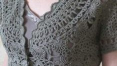 Knitted young lady's dress free pattern