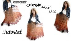 Colorado Crochet Maxi skirt Tutorial