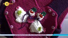 Sweet Knitted Patterned Girl's Baby Vest – İlknur Ceyhan Exhibition Antalya 4K UHD