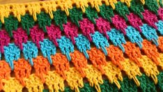 Crochet Work Simple Crochet Sample / Crochet Larksfoot Stitch Tutorial (Eng. Subt.)