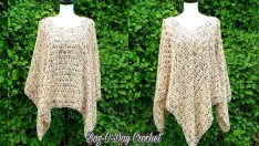 How To Crochet – Ladies Poncho | Pebbles in the Sand | BAGODAY CROCHET TUTORIAL #505
