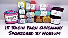 15 Skein giveaway and Review Sponsored by Hobium CLOSED