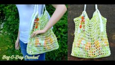 HOW TO CROCHET – MARKET BAG | GO GREEN GROCERY BAG |  BAGODAY CROCHET TUTORIAL #501