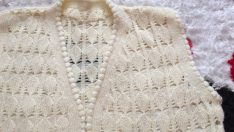 handcrafted knitted vest model 18 / handcrafted knitted vest model