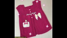 Girls baby knitted cardigan vest models