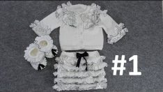 Frilly Cardigan, Skirt and Bootie Making (Ruffle Cardigan, Skirt and Bootie) # 1