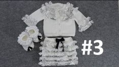 Ruffle Cardigan, Skirt and Bootie Making (Ruffle Cardigan, Skirt and Bootie) # 3