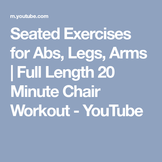 youtube seated exercise for seniors