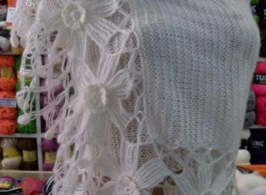 Knit wedding shawl pattern