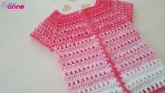 Crochet vest gradıent free pattern