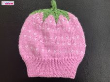 Strawberry Baby Beanie Pattern Free Tutorial -Two Skewers