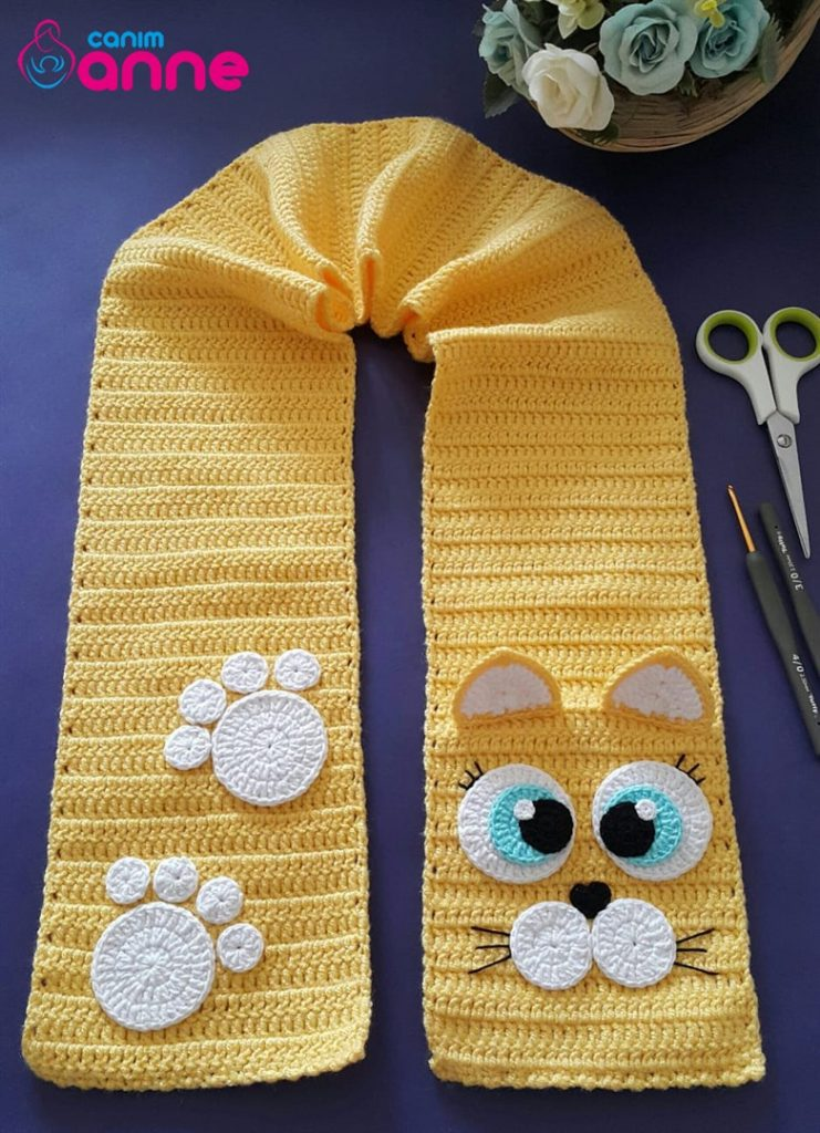 Cat Scarf Pattern For Free Knitting Crochet Love