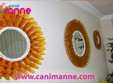 How to make beautiful wall mirror a plastic spoon