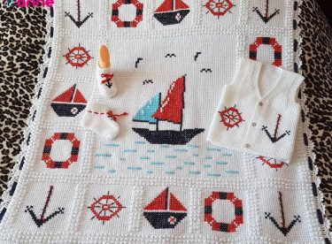 Sailor Baby Blankets Model For Free
