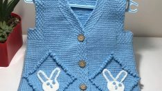Tunisia business rabbit baby vest pattern  for free
