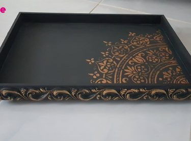 Embossed Patterned Tray Painting
