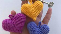 Amigurumi Crochet Heart Keychain Pattern