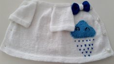 Cloudy baby vest pattern