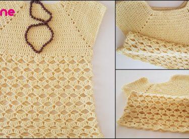 Crochet Teenage Girl Blouse Sweater Pattern