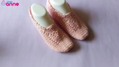 Leaf Patterned Booties Pattern For Free