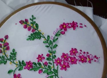 Ribbon embroidery drawing samples