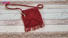 Easy tassel knitting bag pattern