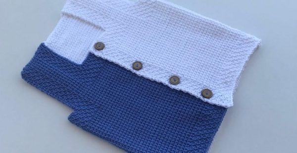 Tunisian Pattern Baby Vest Free