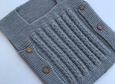 Lying Hair Braid Baby Vest Pattern